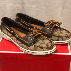 Coach boat shoes